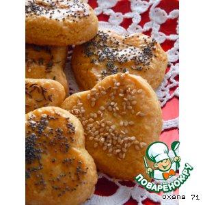 Печенье из сыра Emmentaler с паприкой домашний рецепт с фотографиями пошагово