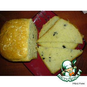 Рецепт Хлеб с маслинами и маринованным перцем