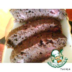 Рецепт Шоколадный кекс с клубникой