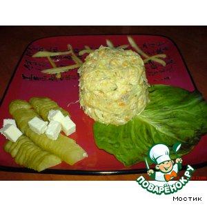 Рецепт Куриный салат с омлетом