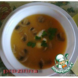 Рецепт Суп-пюре из тыквы с шампиньонами