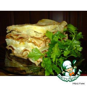 Рецепт Моя лазанья с овощами, грибами и мясом