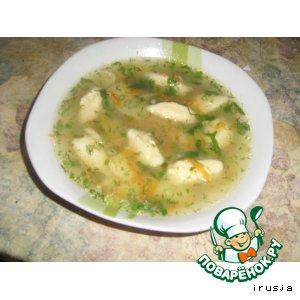Рецепт Суп с клeцками из манной крупы
