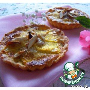 Рецепт Тарталетки с яблоками и кремом а-ля брюлe