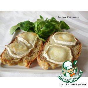 "Рецепт Французские бутерброды ""Горячий козий сыр"""