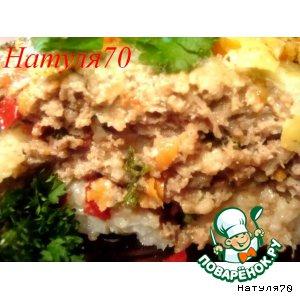 Рецепт Запеканка из риса с мясом
