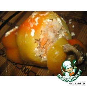 Рецепт Фаршированный перец, тушенный в... кефире