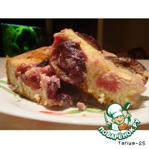 Рецепт Баварский пирог со сливами