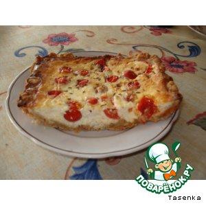 Рецепт Пирог из брынзы с томатами