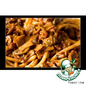 Рецепт Букатини по-леснически (Bucatini alla boscaiola)