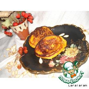 Рецепт Тыквенные оладьи с сырным припeком