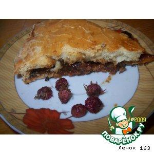 Рецепт Пирог с калиной и земляникой