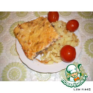 Запеканка  курино-грибная вкусный рецепт приготовления с фото пошагово как приготовить