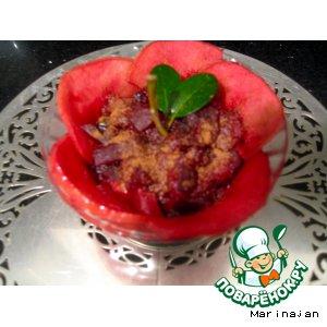 Рецепт Яблоки со свеклой, запеченные в духовке