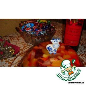 Рецепт Желе из консервированных фруктов