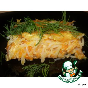 Рецепт Тыквенно-картофельная запеканка с сельдереем