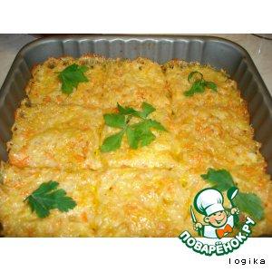 Рецепт Запеканка картофельно-тыквенная  с сыром