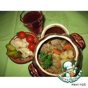 Рецепт Печень индейки с овощами в сметанно-винном соусе