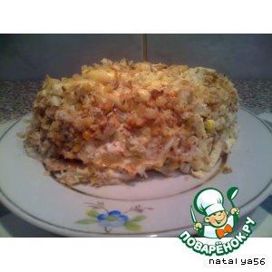 Слоеный салат простой пошаговый рецепт с фото как готовить