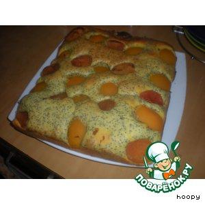 Рецепт Маковый пирог с абрикосами