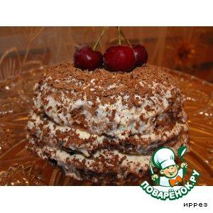 Бисквит за 3 минуты и мини-тортик из него