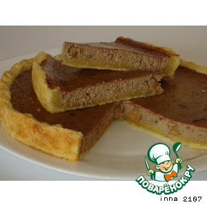 Рецепт Пирог  с  куриной  печенью