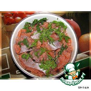 Рецепт Соленый лосось с укропом