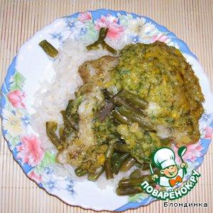 Рецепт Рыба, запеченая  под кукурузным соусом