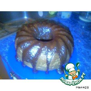 Рецепт Шоколадный кекс с  глазурью