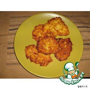 Рецепт Тыквенные оладушки с сыром