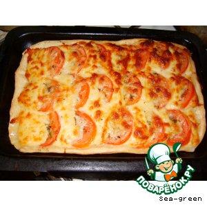 Рецепт Пирог с сыром и помидорами