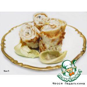 Рецепт Роллы из ореховых блинов