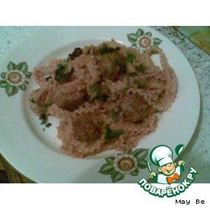 Рецепт Паста с мясными шариками