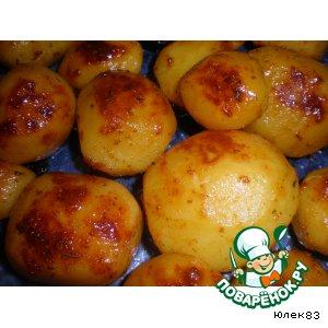 Рецепт Картофель, запеченный с травами и медом