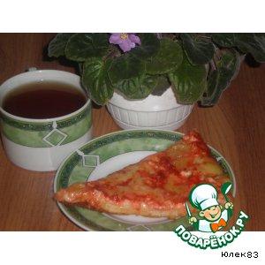 Рецепт Пицца с творогом и двумя видами сыра