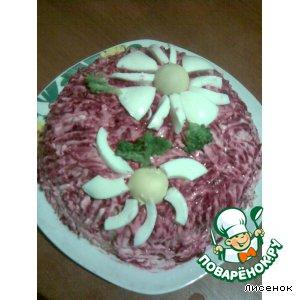 "Рецепт Салат ""Розовый фламинго"""