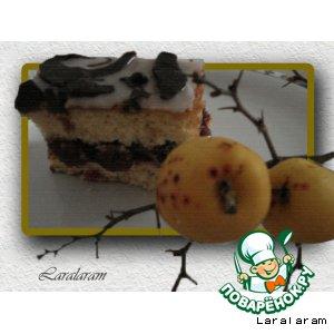Рецепт Бисквитный тортик по-немецки (с вишнями)