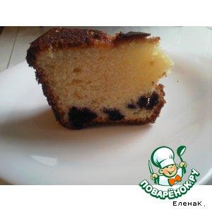 Рецепт Кекс с черникой