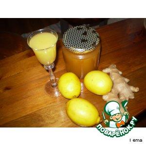 Рецепт Имбирно-медовый напиток