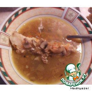 Грибной суп простой рецепт с фотографиями пошагово как приготовить