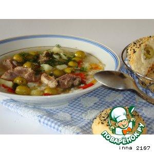 Суп со свининой и оливками пошаговый рецепт приготовления с фотографиями как готовить