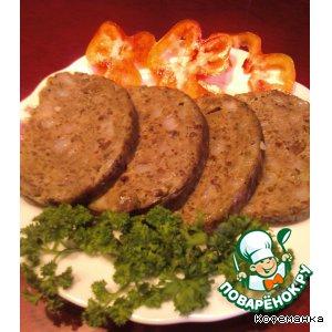 Рецепт Домашняя печеночная колбаска