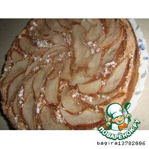 Рецепт Пирог с  миндальным безе и грушами