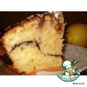 Рецепт Сочный лимонный кекс с какао
