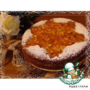 Рецепт Рождественский яблочный пирог с ванильным кремом