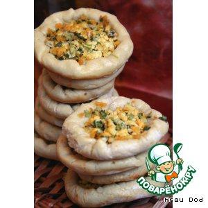 Рецепт Открытые пирожки с яйцом и луком