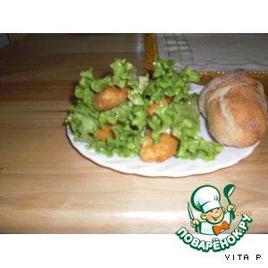 Рецепт Куриные палочки в листьях салата
