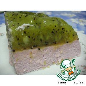 Рецепт Йогуртовый десерт с желе из киви