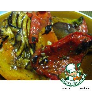 """Овощи-гриль под маринадом """"бальзамико"""""""
