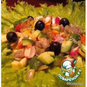 Рецепт Крабовый салатик! Неужели без майонеза?